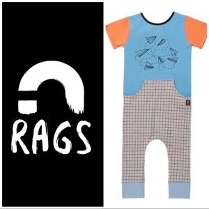 12/18 Rags to Raches paper airplanes romper